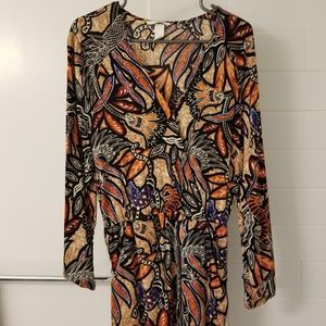 H&M Long-Sleeved Jungle Print Romper Size 6